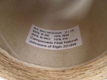 Твид: Буретный (био) шёлк  55%, Био шерсть 20%, мохер 10%, ПА 15% , песочный Camel (m.n. 2/15=750м/100г)