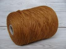 Кашемир 74%, ПА (люрекс, эластан) 26% (плетение нити сложный шнурок), охра (m.n. 230м/100г)
